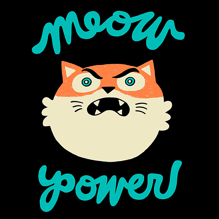Meow Power T-Shirt x Tiny Whales