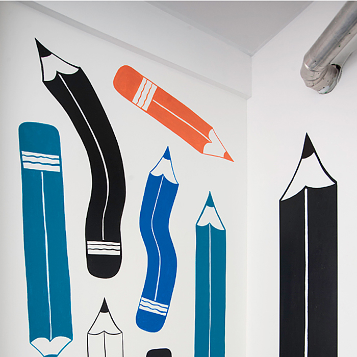 Bent Pencils Wall Painting