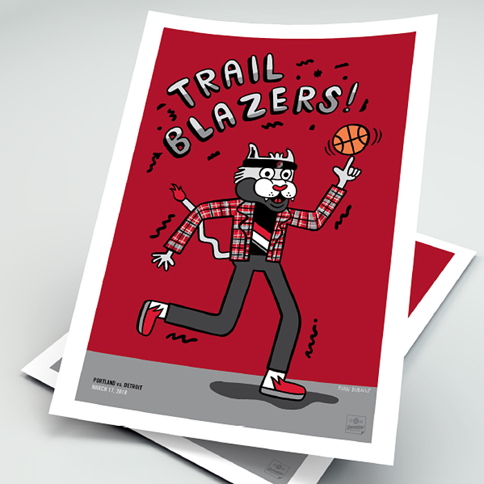 Portland Trail Blazers GameDay Poster