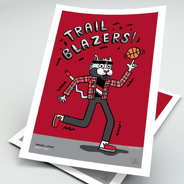 Blazers Portland Posters: Illustrator & Fine Artist